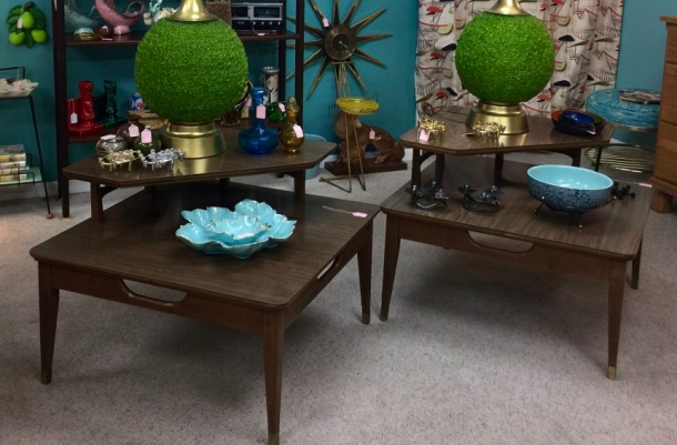 Tiered Mid Century End Tables
