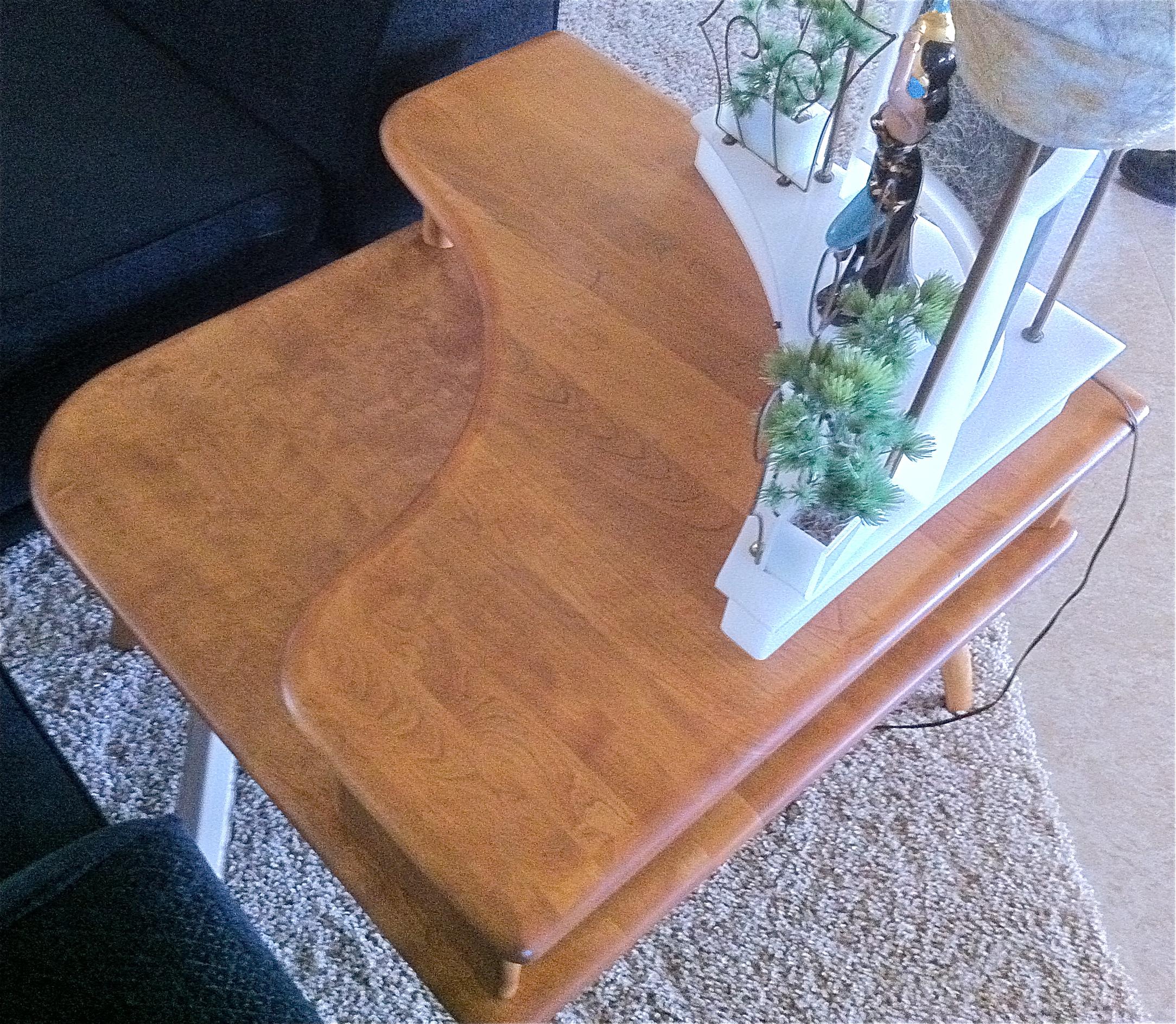 Heywood Wakefield Restoration Lazy Susan Coffee Table