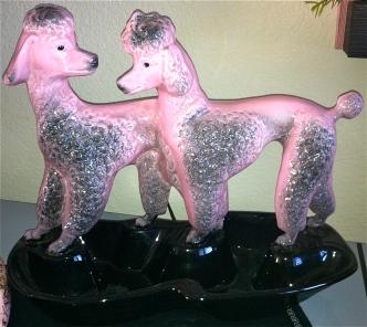 Pink Lane Poodle Lamp