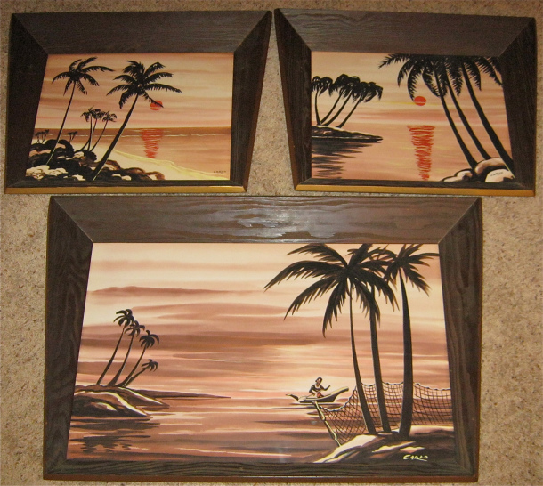 Carlo of Hollywood Hawaiian Watercolor Trio