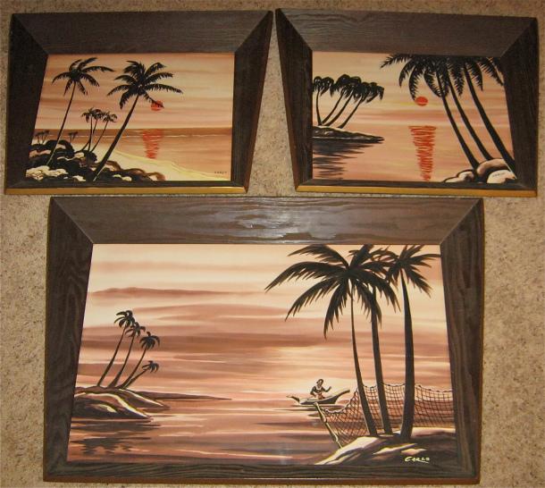 Carlo of Hollywood Hawaiian Watercolor Trio