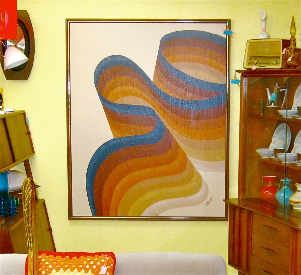 X-Large Letterman Ribbon Print