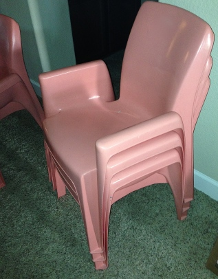 4 Molded Plastic Chairs