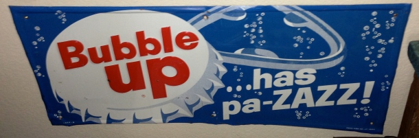 Metal Bubble Up Sign