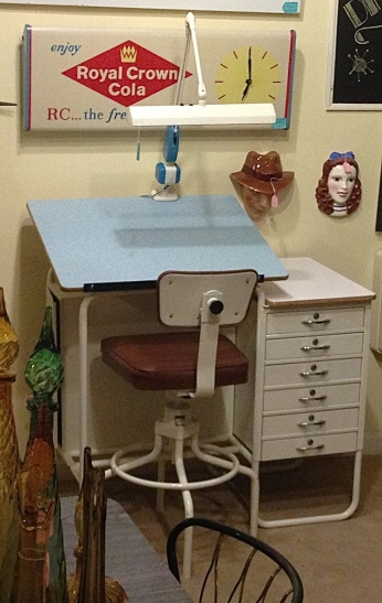 Drafting Table w/ Boomerang Formica
