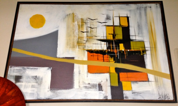 Large Abstract Mid Century Painting