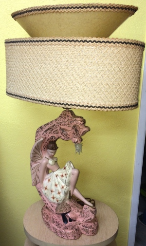 Continental Art Co. Tinkerbell Lamp Pair