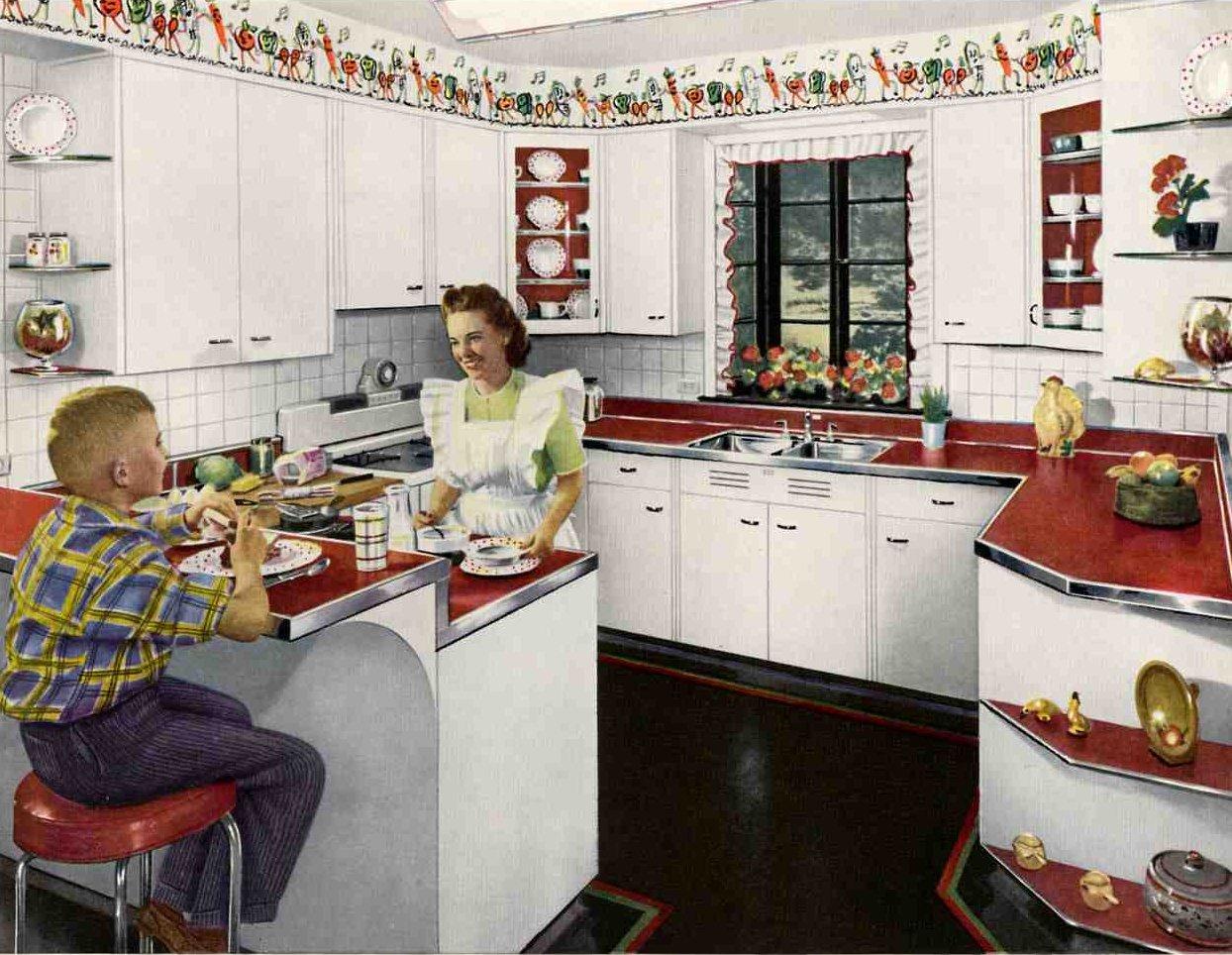 Home Architec Ideas 1950 Kitchen Design