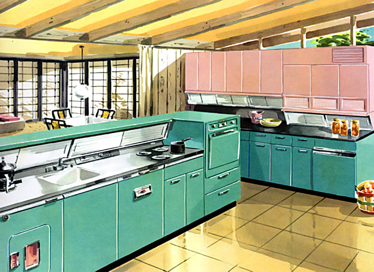 1950\'s Kitchen Cabinets | Hepcats Haven