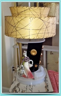 "Moss Radio Lamp, Hedi Schoop's ""Poodle Girl"""