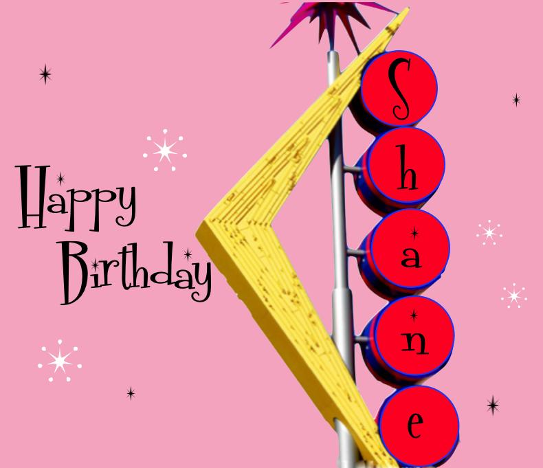 Happy Birthday Shane Cake