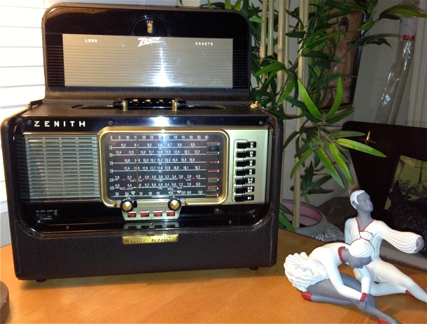 This will sit next the the couch in our room where we can flip it on and listen to radio from all over the world.