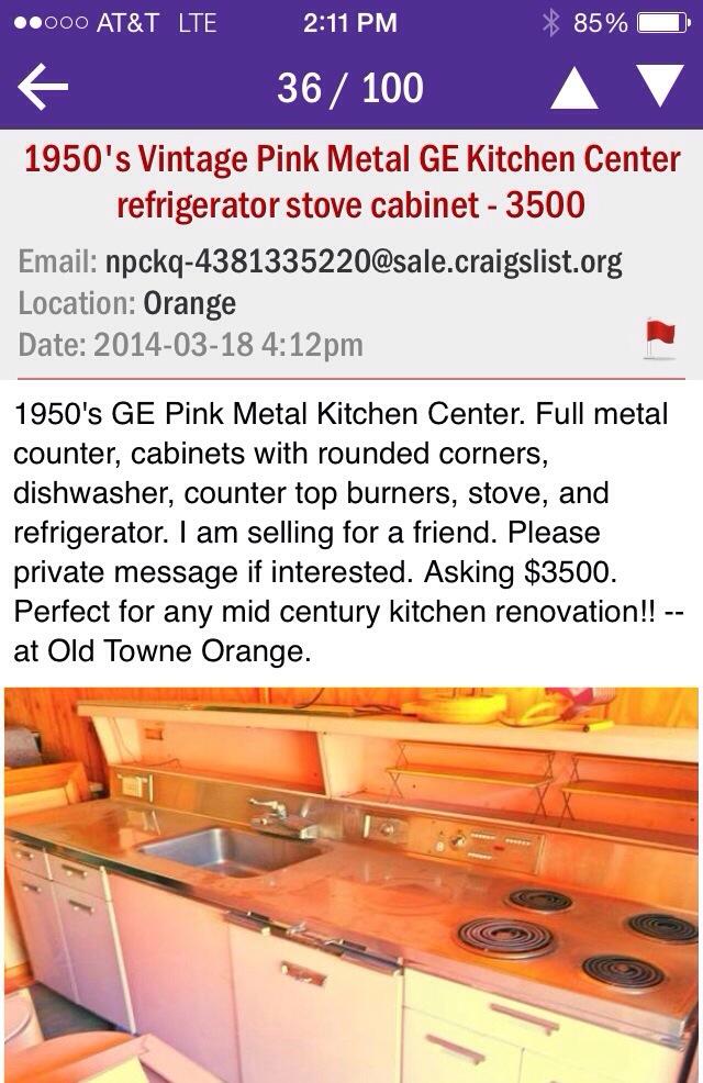Retro Pink Kitchen To Die For Hepcats Haven