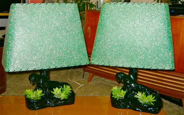 Panther Lamp Pair