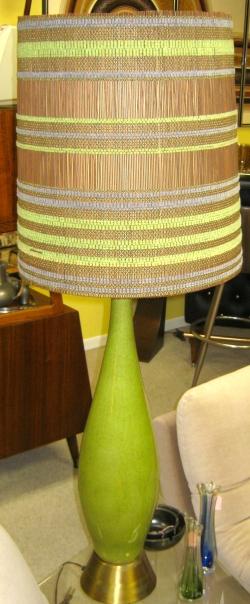 Tall Green Mid Century Lamp