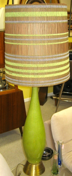 Tall Green Mid Century Lamp