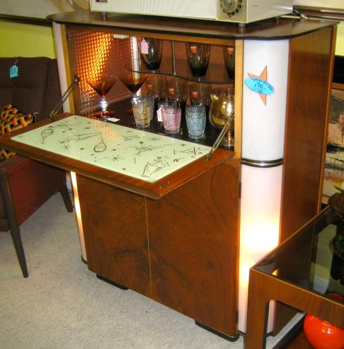 Lighted Art Deco Bar