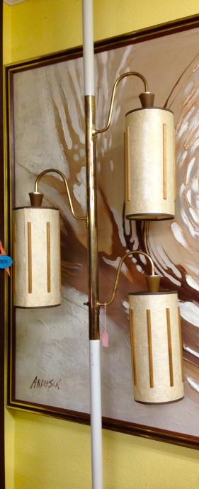 Mid Century Tension Pole Lamp