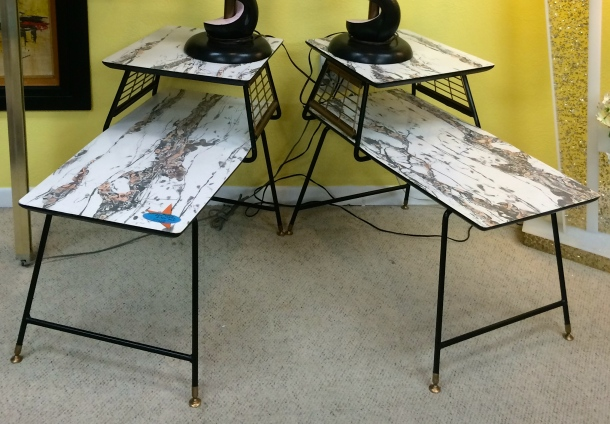 Atomic Formica End Tables