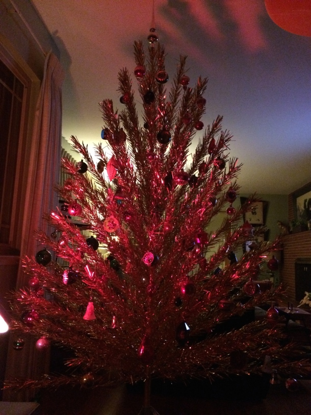 Gold Aluminum Christmas Tree