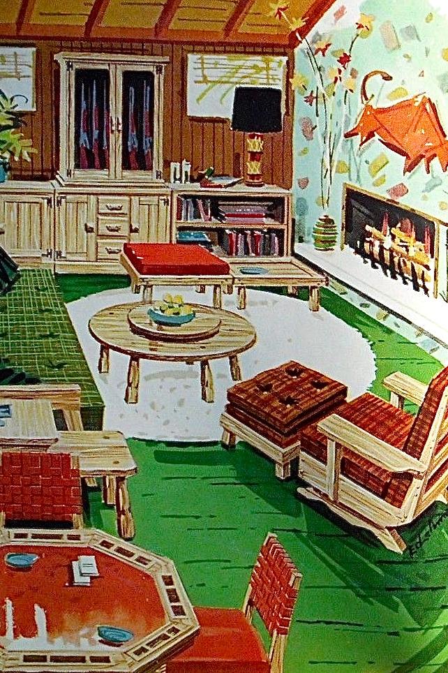 A Brandt Company Ranch Oak Furniture Club Chairs Model