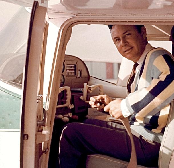 Jim in plane