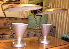 Atomic saucer lamps