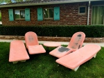 Vintage Fibrella La Barron Lounger & Table Set