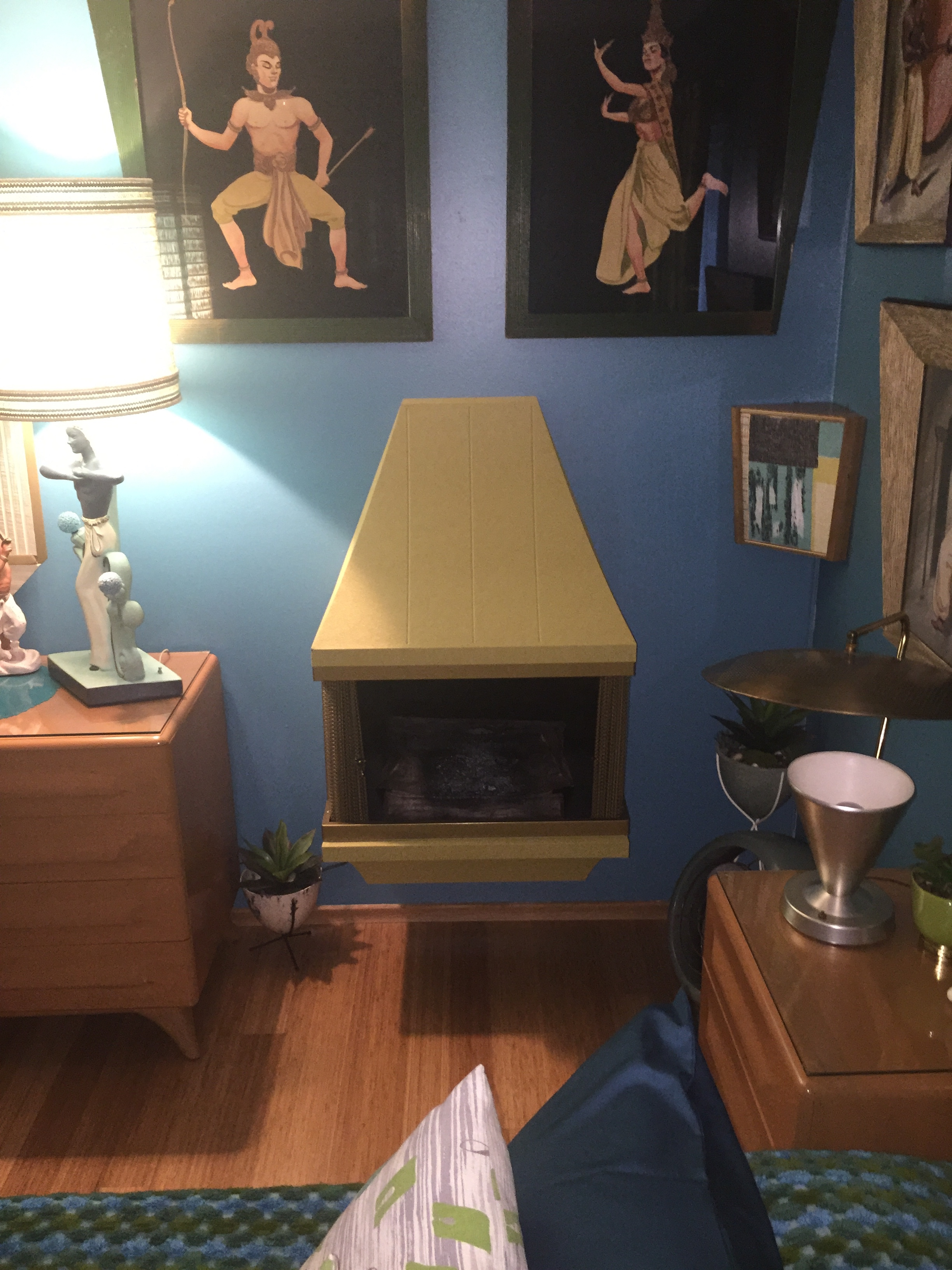 mid century wall fireplace hepcats haven