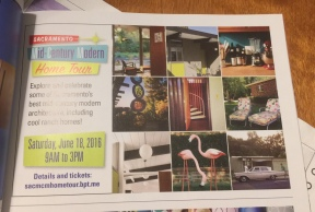 Ad in Atomic Ranch: Squares with flamingos & our lounge chairs.
