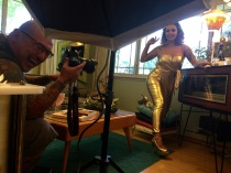 BTS - Model:Sarah Christine, Photographer:Shogun Photography, MUAH:Brandi Proffitt, Location:Hepcat Restorations