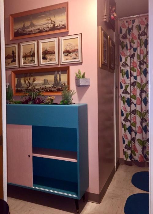 Vintage Planter Cabinet