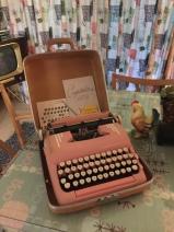 Pink Smith Corona Typewriter