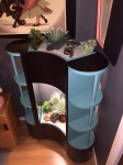 1951 Lighted Planter and Shelf Unit Restoration