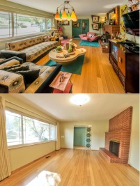 Living Room: Before & after packing.