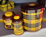 "Vintage Poloron Plaid ""Pelican"" and ""Tartan"" Coolers"