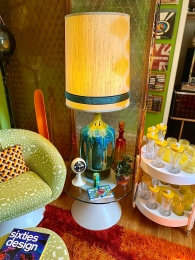 We purchased two of these lava glaze lamps at an antique shop up in Paradise CA.